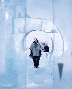 Ice hotel amazing interior #hotel #ice #art