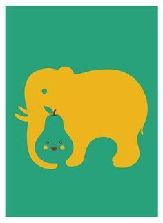 FFFFOUND! | Love Elephant | Flickr - Photo Sharing! #illustration