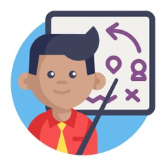 See more icon inspiration related to process, leader, team, teamwork, worker, boss, leadership, group, user, feature, tactical, tactics, planning, strategy, employee, networking and business on Flaticon.