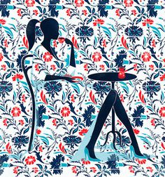 Pietari Posti #illustration #pattern #floral