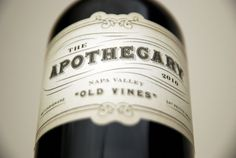 The Apothecary Wine Packaging | Blog | Planet Propaganda #typography #vintage #wine #brand #bottle