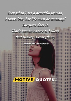 Even when I see a beautiful woman