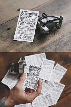 Americana Tattooing Letterpress | Business Cards #inspiration #business #card #design #graphic