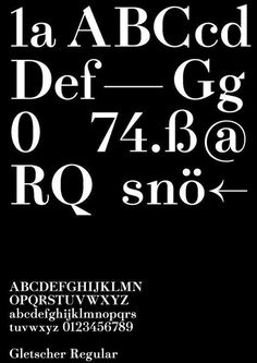 the-book-design: Gletscher Regular——www.facebook.com/heavyweightfoundry #font #specimen #serif #typeface #poster #type #typography