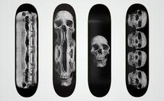 Various Skateboard Graphics Wade Jeffree #white #graphics #& #black #illustration #art #skateboard #skull