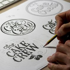 Logo for The Cake Crew. #typography #handlettering #type #script