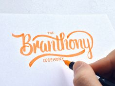 Branthony Sketch by Colin Tierney #inspiration #creative #lettered #personalized #design #illustration #logo #hand