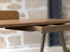 Big Boss Desk by Piergil Fourquié #design #simple #wood #furniture #natural