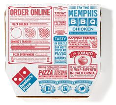 Embalagem Domino Pizza #packaging #food #box #pizza
