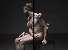 Black Line Surreal Portrait Series by William Farges