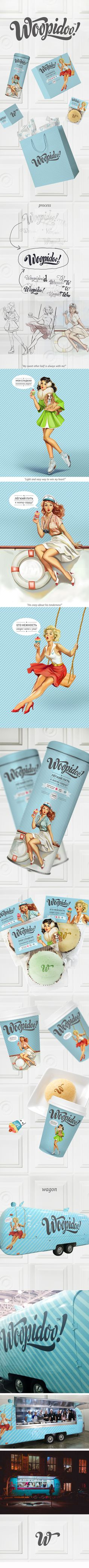 Woopidoo by Valeria Polubiatko #branding #packaging #design #pin-up #identity