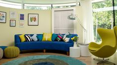 Colourful TV room #interiordesign