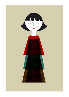 Doll by Blanca Gomez #poster #illustration #doll #girl
