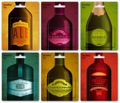 design work life » cataloging inspiration daily #labels #red #yellow #color #purple #gold #blue #seals #green