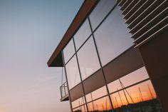Buildning #sun #sunset #building #sky