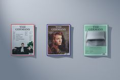 bureauborsche:Bureau Mirko Borsche – The Germans #cover #design #graphic #magazine
