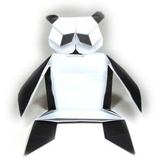 How to make a body of origami panda http://www.origami-make.org/howto-origami-panda.php #origami #panda #origamipanda #origamianimals #easy