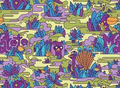 A vibrant, exotic repeating pattern for Matete #illustration #color