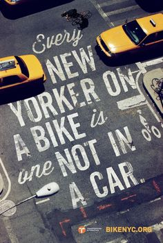 Bike like a New Yorker — Mother Creative Journal #bikes #type #ad