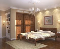 Artistic bedroom with painting
