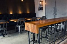 North of Brooklyn Pizzeria #interior #barn #board #restaurant #wood #furniture #pizza