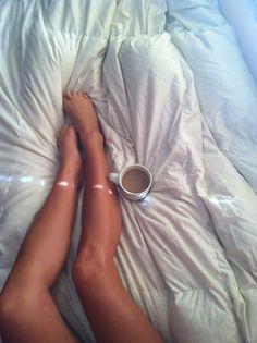 Coffee, legs and duvet #coffee #duvet #legs