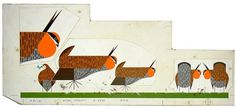Charley Harper /  Pheasants / 1968