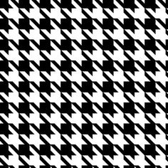 Black & white classic houndstooth