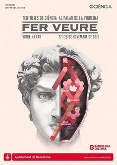 BCN Ciència: Fer Veure on the Behance Network #fer #vasava #veure #lectures #barcelona #poster #ciencia
