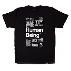 Origin68 — HUMAN BEING - Black #white #tshirt #black #concept #and