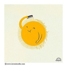 Designersgotoheaven.com - Bad Hair Day by Heng... - Designers Go To Heaven #illustration #sun #happy #smile