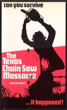 The Texas Chain Saw Massacre horror movie poster in Solopress Printing and Design blog #poster #movie #horror