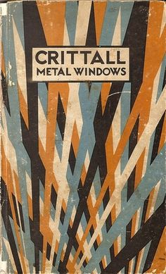 Typographie - The title page to the 1932 Crittall metal windows... #vintage #texture #book