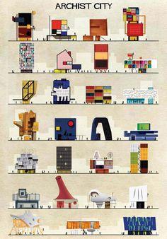 1-Federico-Babina-Archist-Series-yatzer #illustration #design #architecture