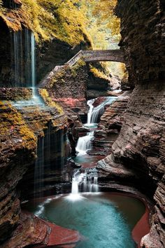 CJWHO ™ (Watkins Glen State Park is located outside the...) #water #stairs #design #landscape #park #photography #nature #watkins #state #york #glen #new