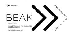 Beak> Confirm Intimate London Show with 2 Supports + Factory Floor DJs, On Sale Friday - All Tomorrow's Parties #music #banner