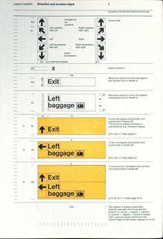 Margaret Calvert — Airport signage system (1972) #guides #signage