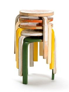 FFFFOUND! | Inspiration / aalto #wood #furniture #stools