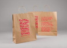Sita Murt / Sita Murt Pop Up Store identity / Fashion #packaging #drawn #fashion #hand #neon
