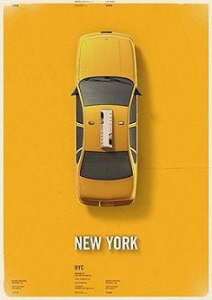 FFFFOUND! #new york #yellow #taxi