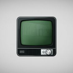 Icon Tv #old #icon #television #button #design #retro #lights #appstore #glass #illustration #app #vintage #gray #sony #tv #green