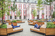 atelier starzak strebicki revives courtyard with landscaped street furniture