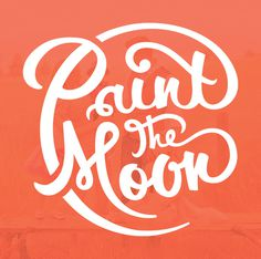 Logo refresh for Paint the Moon https://www.behance.net/gallery/20493353/Paint-the-Moon-rebrand #truman #handlettering #white #branding #refresh #tim #type #orange #rebrand #weakland #brand #paintthemoon #sincerely #logo #hand