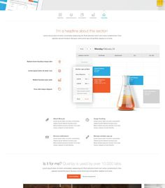 Quartzy - Facilities WIP by UENO. (via Haraldur Thorleifsson #page #site #design #product #web #landing
