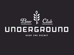 Underground Beer Club Logo #beer #label #logo