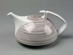 Teapot and cover - Victoria & Albert Museum - Search the Collections #tea #coffee #walter gropius #porcelain #ceramics #1966
