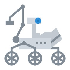 See more icon inspiration related to moon rover, exploration, transportation, electronics, automobile, education, science, vehicle and technology on Flaticon.