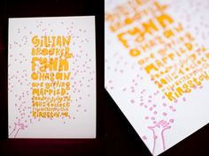 everlovingpress - letterpress invitation