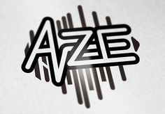 """AZE"" Logo Design for a rock/electro band #logo #design #lettering #typography"