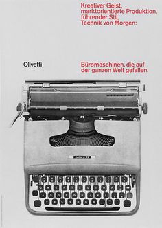 Olivetti Poster #olivetti #german #greyscale